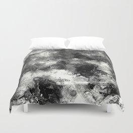 Deja Vu - Black and white, textured painting Duvet Cover