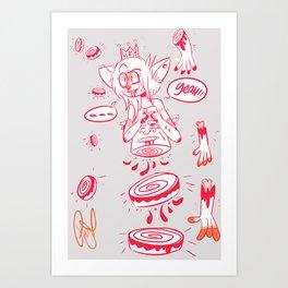 queen of dismemberment  Art Print