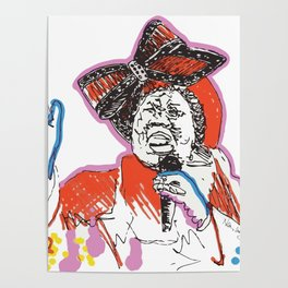 Aretha Franklin African American Singer Poster