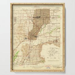 Colton, CA from 1943 Vintage Map - High Quality Serving Tray