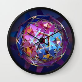 Colorful metallic orb Wall Clock