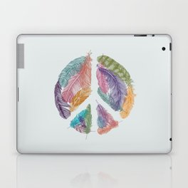 Feathers for Peace (Peace Sign) Laptop & iPad Skin