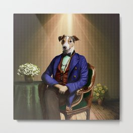 Doctor Declan Dogue in his Parlor Metal Print