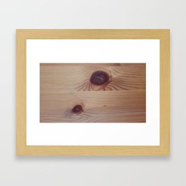 Knotted Wood Framed Art Print