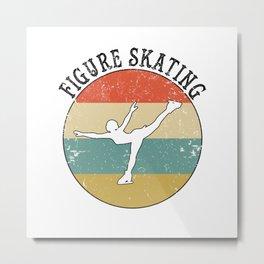 Figure Skating Ice Skater Metal Print