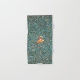 buttons fantasy blue lake Hand & Bath Towel