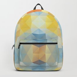 Kaleidoscopic design in soft colors Backpack