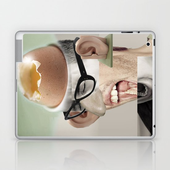"""a yawn is a silent shout"" Laptop & iPad Skin"