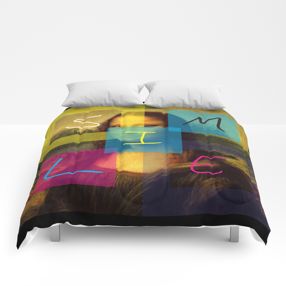 Mona Lisa Smile Comforter by Rosariocurcio CMF945876