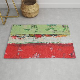 Dixon Red Green Abstract Painting Print Rug