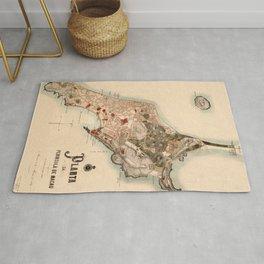Map Of Macau 1899 Rug