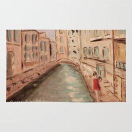 Venice Girl in Red Rug
