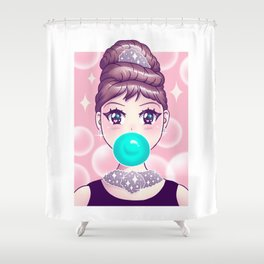 Kawaii Bubble Gum Shower Curtain