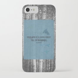 ee cummings - songbirds. iPhone Case
