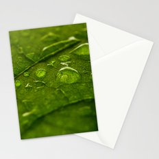 Green Bubbles 2 Stationery Cards