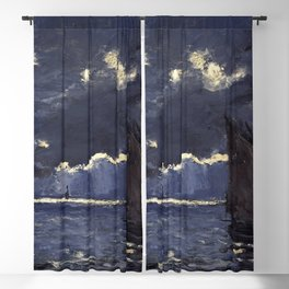 Claude Monet - A Seascape, Shipping by Moonlight Blackout Curtain
