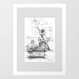 Fountain of Neptune Art Print
