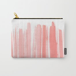 Coral Lines Carry-All Pouch