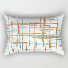 Abstract / Geometry - Colorful Terminal Rectangular Pillow