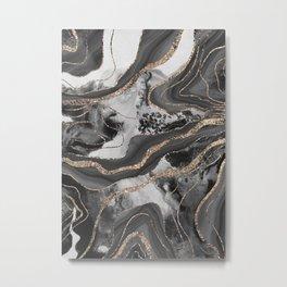Liquid Marble Agate Glitter Glam #9 (Faux Glitter) #decor #art #society6 Metal Print