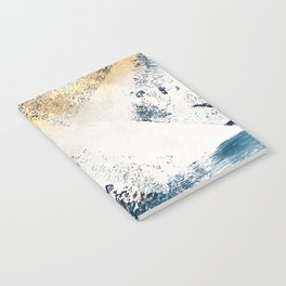 Sunset [1]: a bright, colorful abstract piece in blue, gold, and white by Alyssa Hamilton Art Notebook