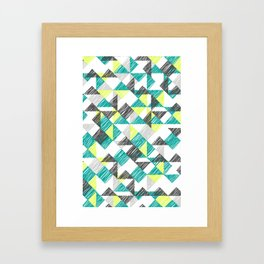 scribble triangles Framed Art Print