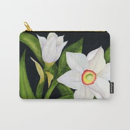 Watercolor Paperwhite Carry-All Pouch