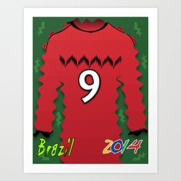 Mexico Red Soccer World Cup Brazil 2014 Art Print