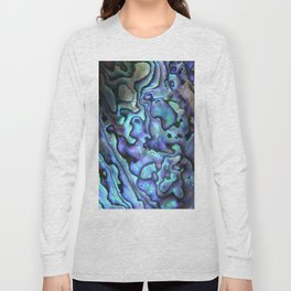 Deep Purple Abalone Shell Long Sleeve T-shirt