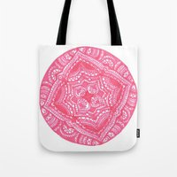 preppy Tote Bags featuring Preppy Flower by Brenna Whitton
