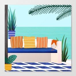 Tropical Villa On The Sea Canvas Print