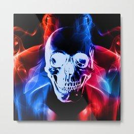 Smokey Skull Metal Print