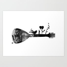 Guitar Childhood Art Print