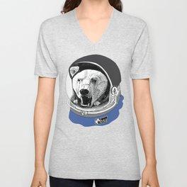 Astronaut bear Unisex V-Neck
