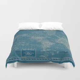 The World According to US Duvet Cover