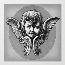 Cherub Face | Angel | Vintage cherub | Vintage angel | Angel decor Canvas Print