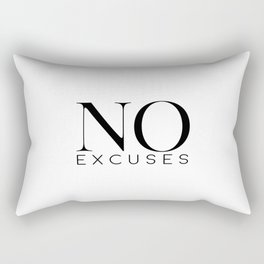 No Excuses, Printable Wall Art, Fitness Sign, Motivational Print, Gift Idea Rectangular Pillow