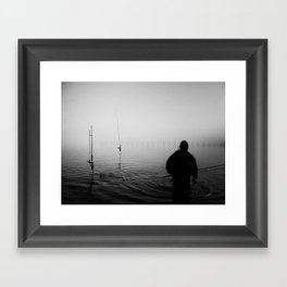 a bad day fishing is better then a good day at work. Framed Art Print