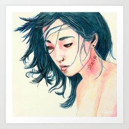 East Wind Girl Art Print