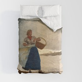 Winslow Homer1 - Inside The Bar - Digital Remastered Edition Comforters