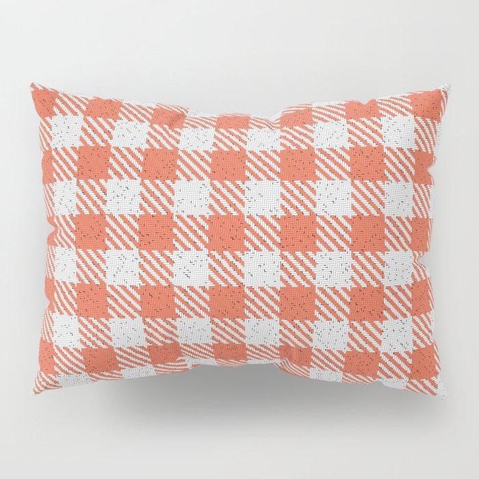 Tomato Buffalo Plaid Pillow Sham