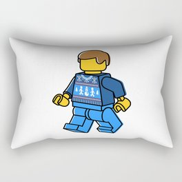 Minifigure in Sweater Rectangular Pillow