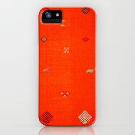 7 - Vintage Orange Anthropologie Moroccan Artwork. iPhone Case