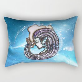 Zodiac sign aquarius Rectangular Pillow