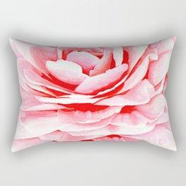 Watercolor Pink Camellia Rectangular Pillow