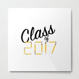 Class of Pencils 2017 Black Font Metal Print