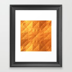 Golden Quilt Framed Art Print