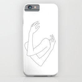 Crossed arms illustration - Jill iPhone Case