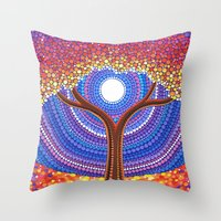 secret life Throw Pillows featuring Secret Life of Trees by Elspeth McLean