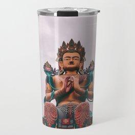 Statue of Maitreya Buddha Travel Mug